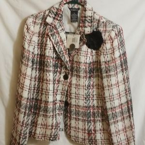 GEORGE size 12 Red Black and Red Jacket Size 12